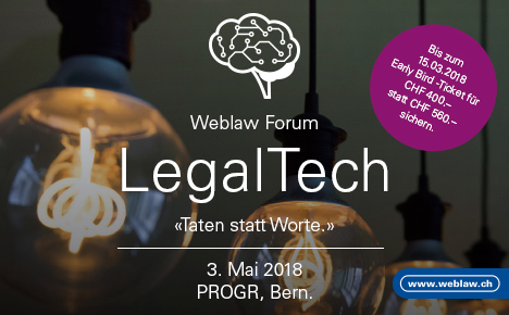 Weblaw Forum Early Bird