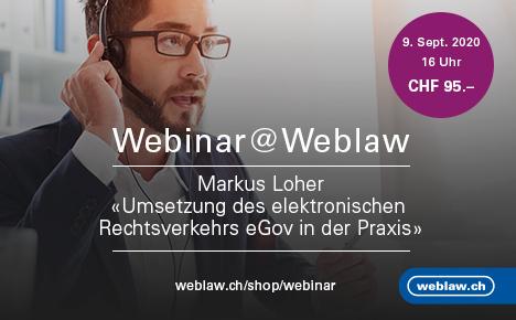 Webinar eGov in der Praxis am 9. September 2020