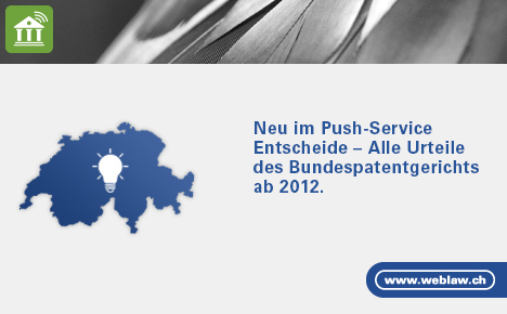 Push Service Entscheide, BPatG